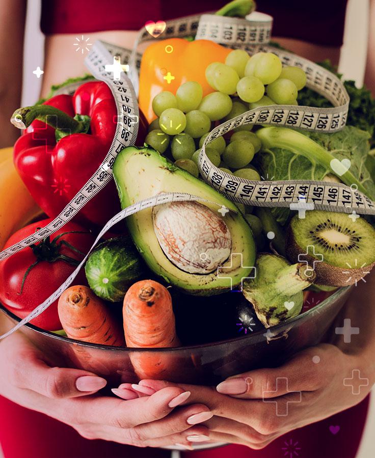 las frutas y verduras son fuente de vitaminas minerales y fibra