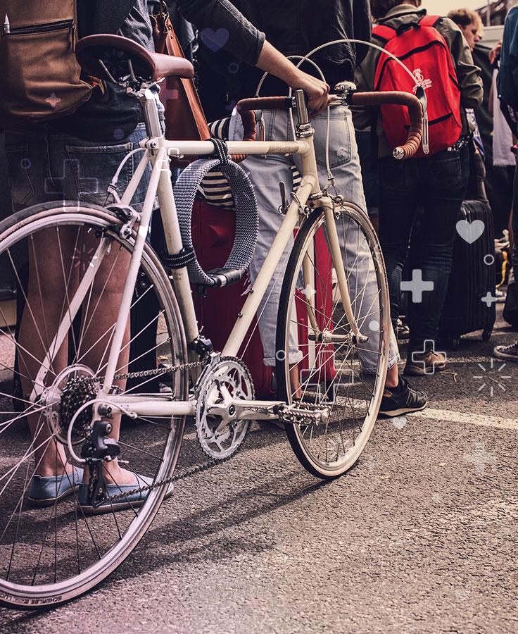 vida saludable en bici
