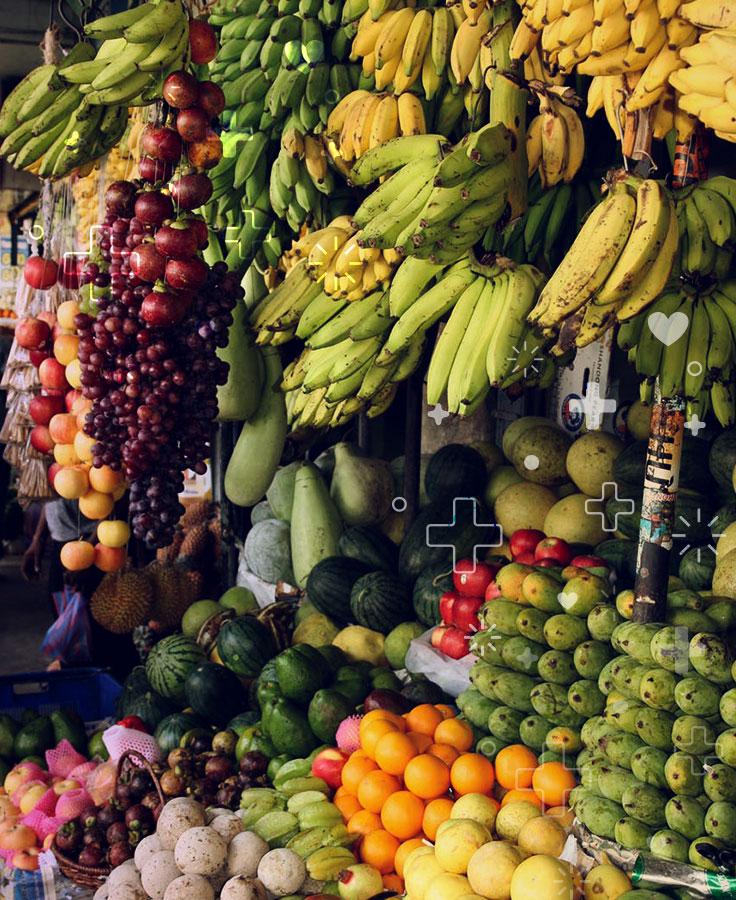 Coma mucha fruta y verdura